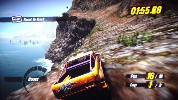 Crazy race with Motorstorm 3D Rift