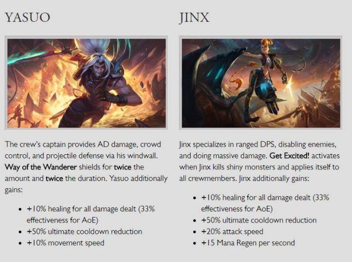Mô tả kĩ năng của Jinx và Yasuo ở chế độ mới