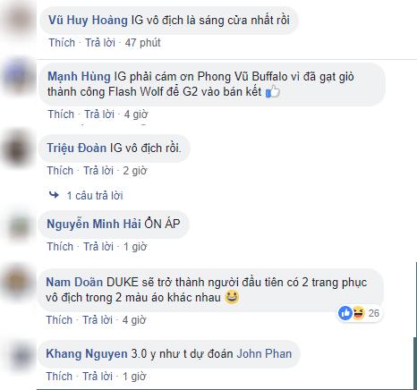 fan LMHT Việt tiên đoán chức vô địch CKTG sẽ thuộc về IG - Ảnh 1