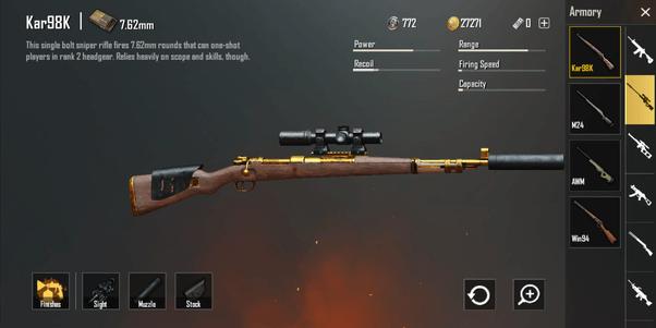 Vũ khí mạnh nhất PUBG