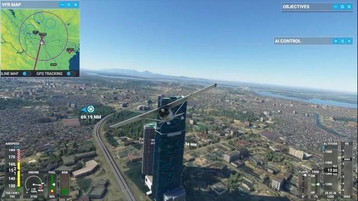 Keangnam hiện lên trong Flight Simulator